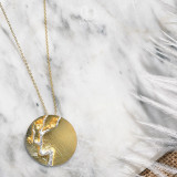Gold Plum Blossom - 925 Silver Necklace