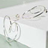 Circle - Simple 925 Silver Ear Stud
