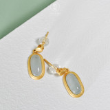 Simple Oval - Jadeite 925 Sterling Silver Earrings