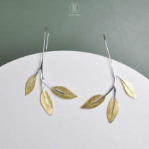 Leaves  - 925 Sterling Silver Earrings