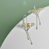 Gold Butterfilies - 925 Sterling Silver Earrings