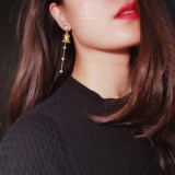 Best Designer Earrings Online - Dunhuang. Hua Gai Pearl Ear Stud - Sterling Silver Gilded - Mother of Pearl | Light Stone