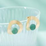Earrings - Best Online Designer Shop -Pebbles -  Sterling Silver Aventurine Earrings  | LIGHT STONE