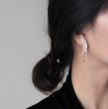 Feather- Sterling Silver Earrings