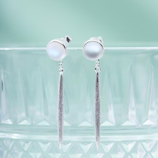 Glaze - Drop- Sterling Silver Earrings