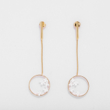 Osmanthus - Circle  -  Sterling Silver Earrings