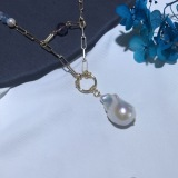 Baroque Pearl Necklace - Luxury Real Pearl - Sterling Silver
