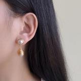 Elegant Real Pearl Earrings - Sterling Silver