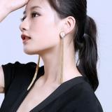 Finged Strap - Elegant Real Pearl Earrings - Sterling Silver