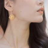 Lucky Knot - Silk Road - White Crystal - Sterling Silver Earrings