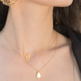Golden-and-Silver Honeysuckle - Silk Road - Sterling Silver Necklace