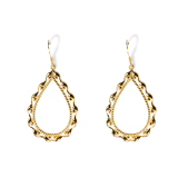 Golden-and-Silver Honeysuckle - Silk Road - Sterling Silver Earrings