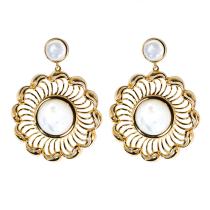 Wave Wheel - Silk Road - Mother of Pearl - Sterling Silver Earrings