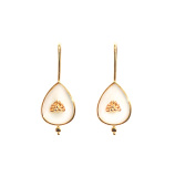 Fire and Water - Silk Road - Mother of Pearl- Luxury Sterling Silver Ear Studs