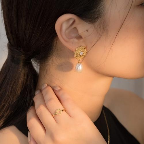 Lotus - Silk Road - Freshwater Pearls - Luxury Sterling Silver Earrings