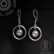Flower Ball - Miao Silver Filigree Earrings