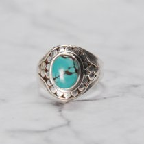 Turquoise Diamond - Handmade Silver Ring