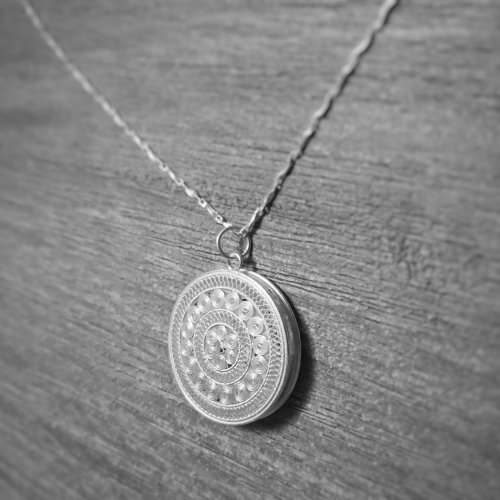 Filigree Necklace - Sky Collection - Sun Drum