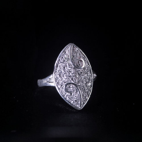 Sprout-Filigree Silver Ring