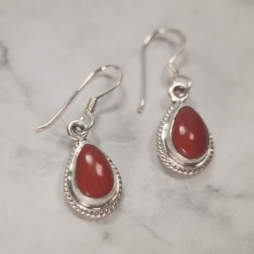 Water Drop - Handmade Tibetan Silver Earrings