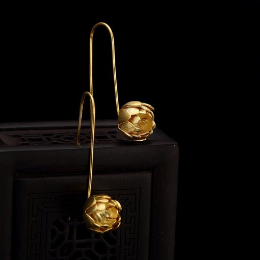 Lotus - Gilt Silver Earrings