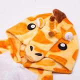 Kids Yellow Giraffe Onesie Kigurumi Pajamas Kids Animal Costumes for Unisex Children