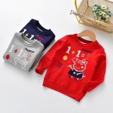 Toddler Boys Knit Pullover Upset to Keep Warm Peppa Pig Sweater