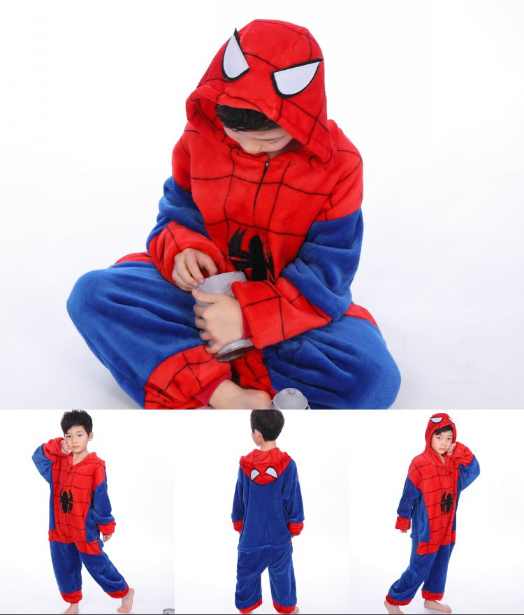 Kids Spider Man Onesie Kigurumi Pajamas Kids Animal Costumes for Unisex Children