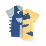 Boy 3D Dinosaur Graphics Cotton T-shirt