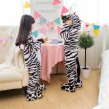 Kids Zebra Onesie Kigurumi Pajamas Kids Animal Costumes for Unisex Children