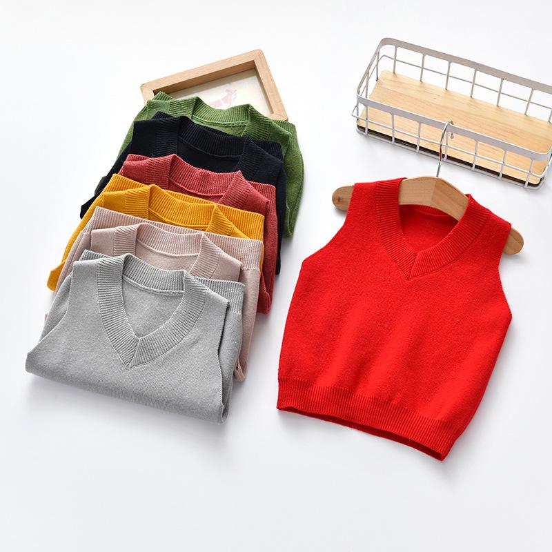 Toddler Boys Knit Pullover Vest Sweater