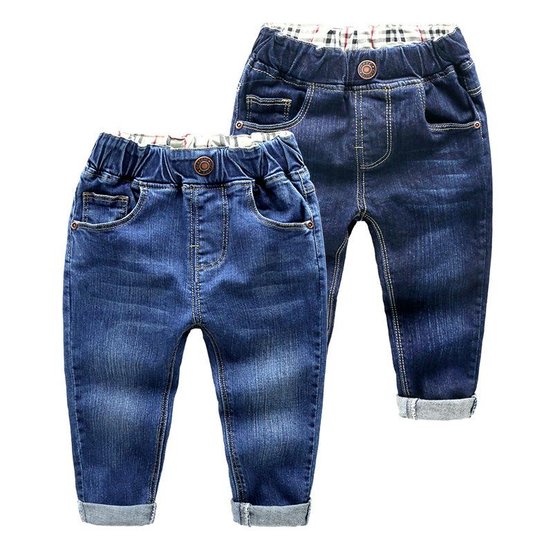Toddler Boys Pure Color Denim High Quality Jeans Pants
