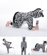 Kids Zebra Onesie Kigurumi Pajamas Kids Animal Costumes for Unisex Children