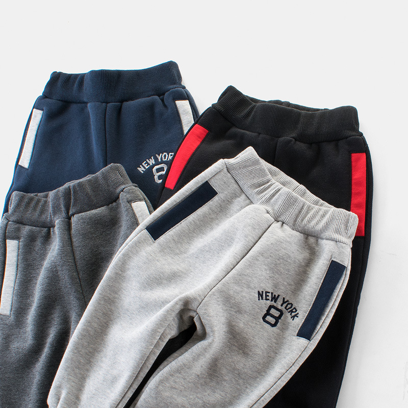 Navy Simple Toddler Boys Sweatpants Sport Jogger Pants