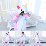 Kids 3 Color Unicorn Onesie Kigurumi Pajamas Kids Animal Costumes for Unisex Children