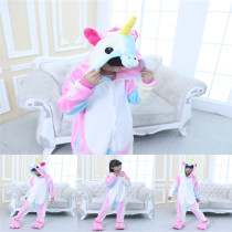 Kids 3 Color Unicorn Onesie Kigurumi Pajamas Kids Animal Costumes for Unisex Children