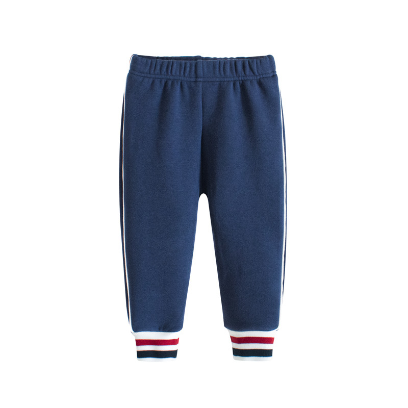 Navy Fleece Simple Toddler Boys Sweatpants Sport Jogger Pants