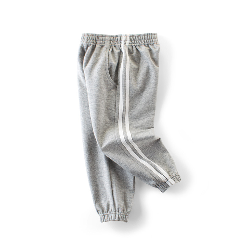 Grey Stripes Simple Toddler Boys Sweatpants Sport Jogger Pants