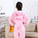 Kids Pink Pig Onesie Kigurumi Pajamas Kids Animal Costumes for Unisex Children