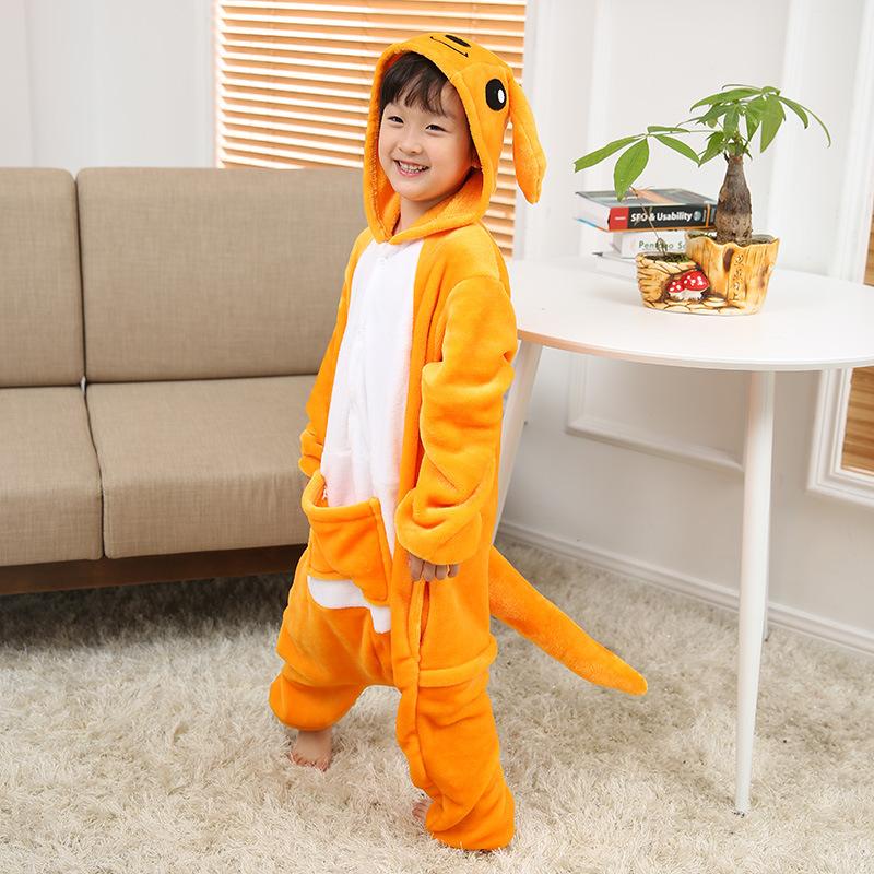 Kids Kangaroo Onesie Kigurumi Pajamas Kids Animal Costumes for Unisex Children