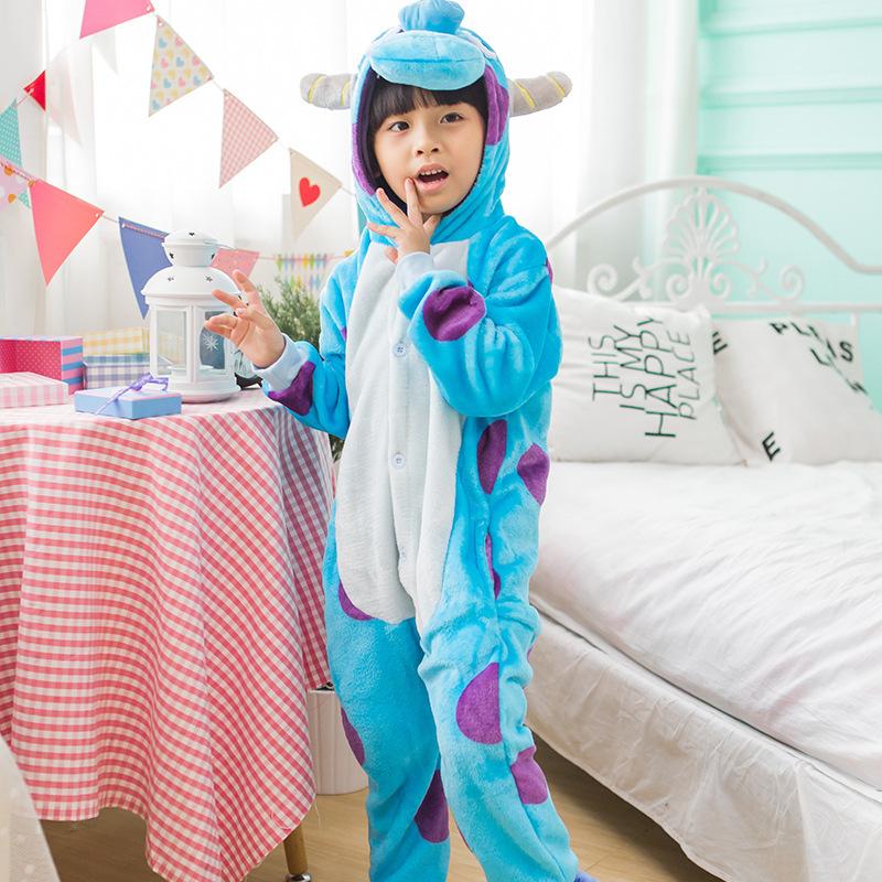 Kids Blue Ox Onesie Kigurumi Pajamas Kids Animal Costumes for Unisex Children