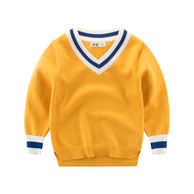 Toddler Boys Knit V Neck Pullover Sweater