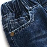 Toddler Boys Dark Blue Ripped Denim High Quality Jeans Pants