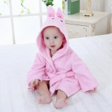 Baby Rabbit Bathrobe Tracksuit Thicken Cute Cartoon Animal Hooded Sleepwear