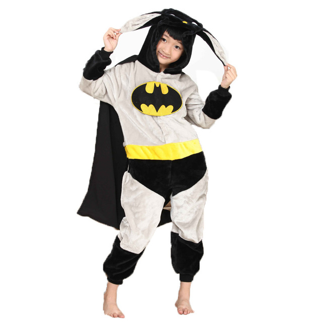 Kids Batman Onesie Kigurumi Pajamas Kids Animal Costumes for Unisex Children