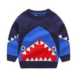 Toddler Boys Knit Pullover Sweater Shark Pattern