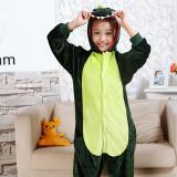 Kids Green Dinosaur Onesie Kigurumi Pajamas Kids Animal Costumes for Unisex Children