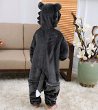 Kids Grey Wolf Onesie Kigurumi Pajamas Kids Animal Costumes for Unisex Children
