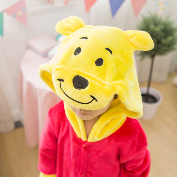 Kids Winnie the Pooh Onesie Kigurumi Pajamas Kids Animal Costumes for Unisex Children