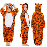 Kids Brown Tiger Onesie Kigurumi Pajamas Kids Animal Costumes for Unisex Children